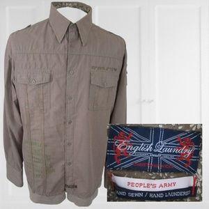 English Laundry long sleeve shirt embroidered XL